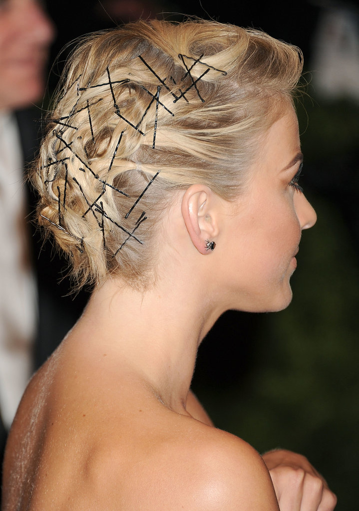 Bobby pin hairstyle were the focus of Julianne Hough 's Met Gala