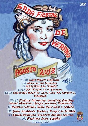 Sada 2013 - Festas patronais - cartel