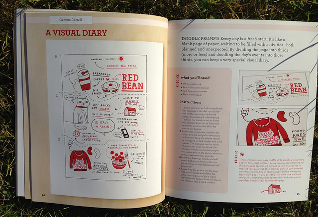 Craft-a-doodle: Gemma Correll's Visual Diary Doodles in Jenny Doh's book