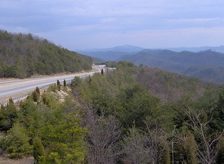 Hwy 25E, clinch mountain, tennessee