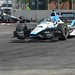 Graham Rahal sports the eBlu colors around Turn 6 during practice at Baltimore