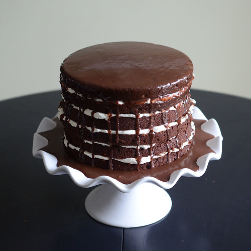 Bourbonnatrix Bakes: mile-high chocolate cake with vanilla ...