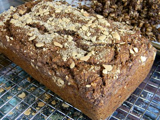 Sourdough Banana Bread with Vanila Cookie Cumble