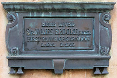 Photo of James Brooke bronze plaque