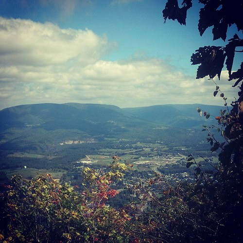 September 22, 2013 View While Nursing...from the Appalachian Trail's Angel Rest near Pearisburg, VA