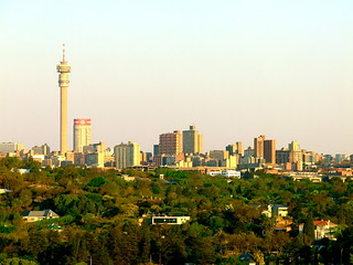 Johannesburg, looking east from Melville.