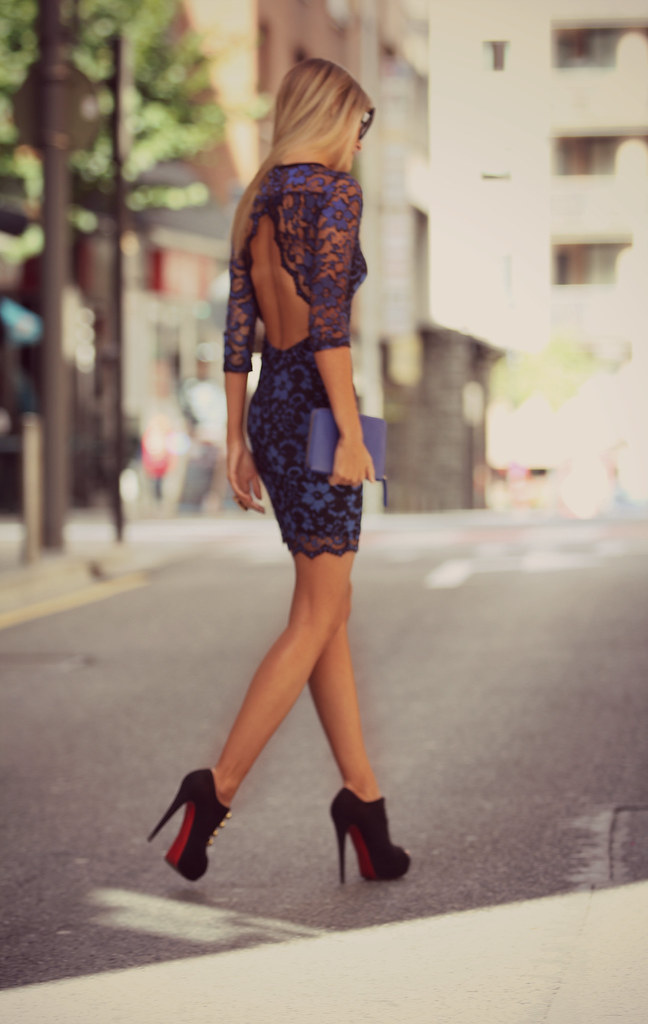 style lover blue lace dress IX