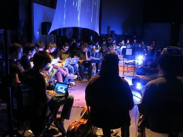 IMG_4135 2014-04-17 GTlork   GaTECH Laptop Ensemble & New Music Ensemble at the Goat Farm Arts Center Georgia Tech Music