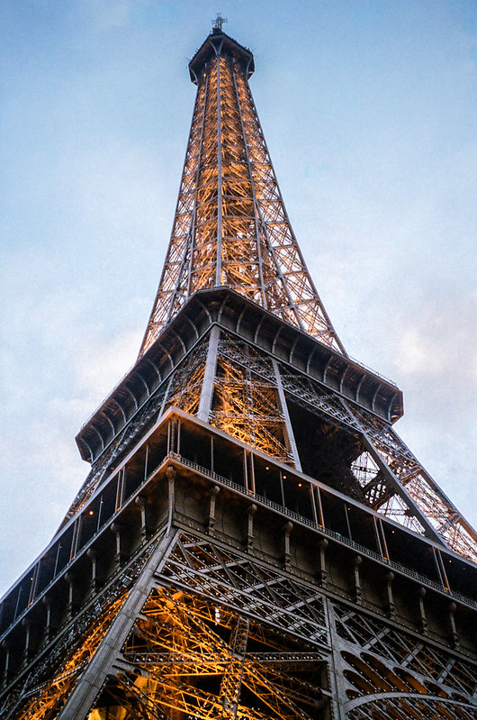 My first close up photo of the Eiffel Tower