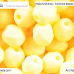PRECIOSA Fire-Polished Beads - 151 19 001 - 02010/29573 - Yellow