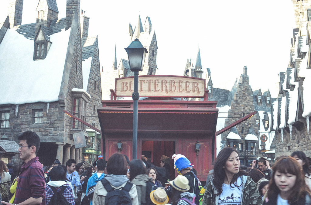 Butterbeer cart near the entrance