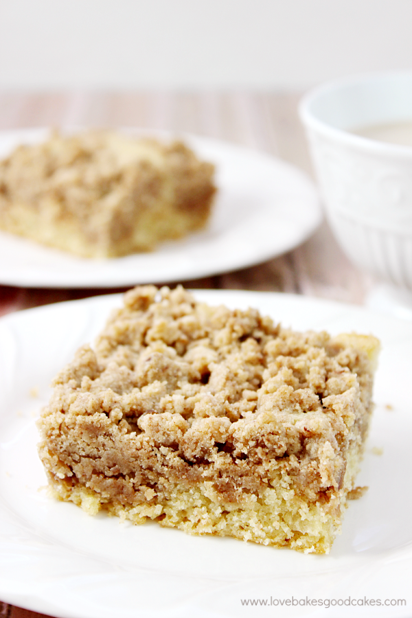This New York Crumb Cake is a classic favorite that goes well with your morning coffee! The crumb topping is to die for!