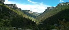 Panorama of the Gorge de la Dourbie from the Millau Viaduct