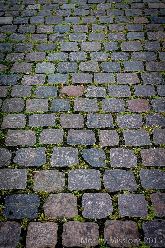 colorful brick walkway