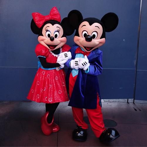 ミッキーさんとミニーさん。 #tw