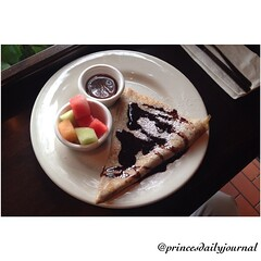 "Perfection! #whatsprinceeating: ""French Vanilla Crepe"" www.princesdailyjournal.com. #princesdailyjournal #princeinthecity #foodie #foodart #myfab5 #instagood @fabrisons #breakfastisserved #breakfast #entrepreneur #networking #iphonephotography #nomnom #co"