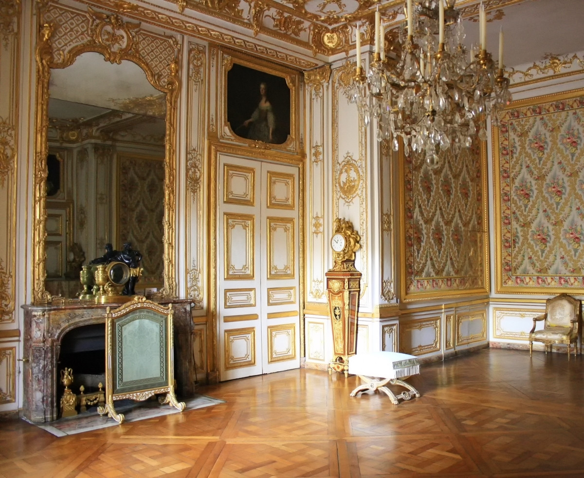 Small apartment of the king in the Palace of Versailles. Credit Lional Allorge