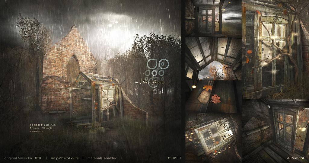 8f8 - no place of ours @ Deco(C)rate November Rain - SecondLifeHub.com