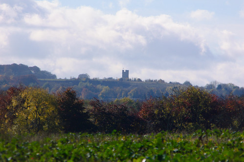 Cotswold prospect: distant view of Broadway Tower