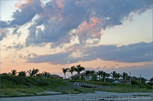 beach sunset by Alida's Photos
