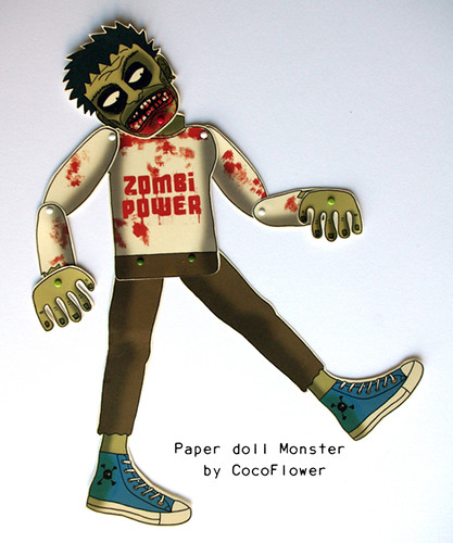 Zombi paper dolls