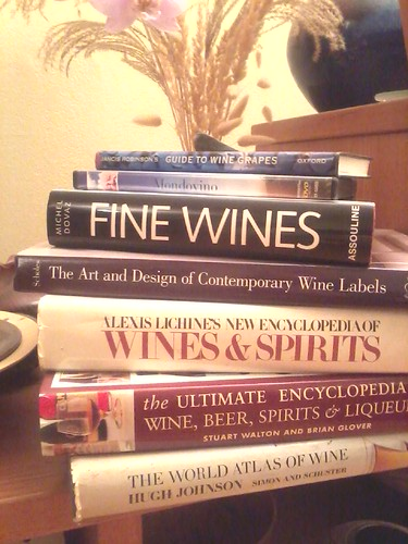 Books about wine, fine wine, wine labels, etc.