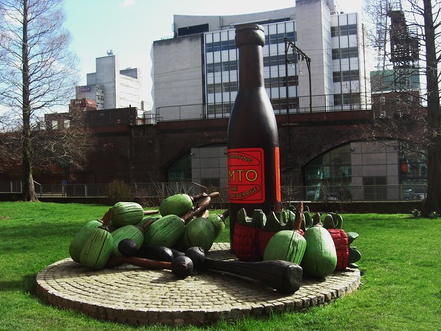 Vimto sculpture manchester england flickr photo sharing for Gardening jobs manchester