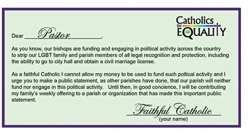 Catholics for Equality-Offering Card