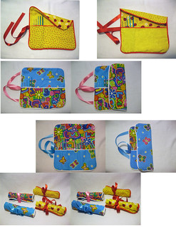 Roll-up Crochet Hook Cases Collage