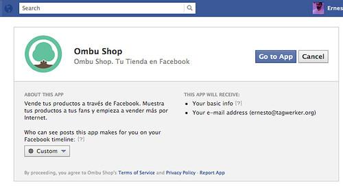 Ir a la aplicación en Facebook