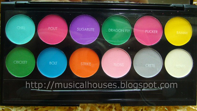 sleek ultra matte brights palette names