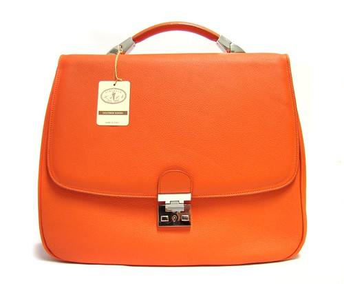 Italian Designer Orange Handbag