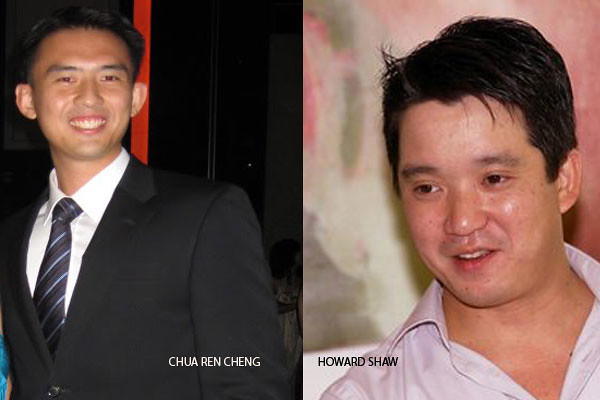Chua Ren Cheng and Howard Shaw, two more men who were charged in court today