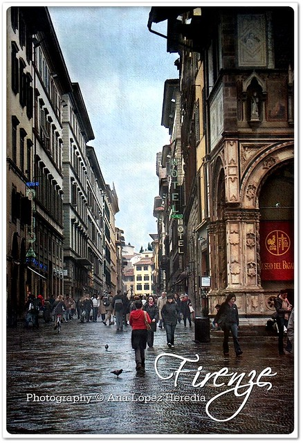 Florencia bajo la lluvia · Firenze'04