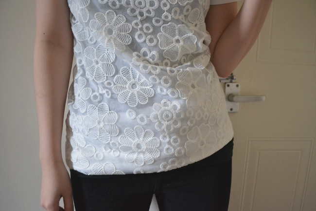 daisybutter - UK Fashion and Style Blog: what i wore, ever ours, river island, tunic, floral lace, collars, louis vuitton SS12