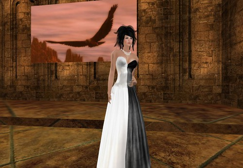 Shar's Gowns Group Gift Black and White by Cherokeeh Asteria