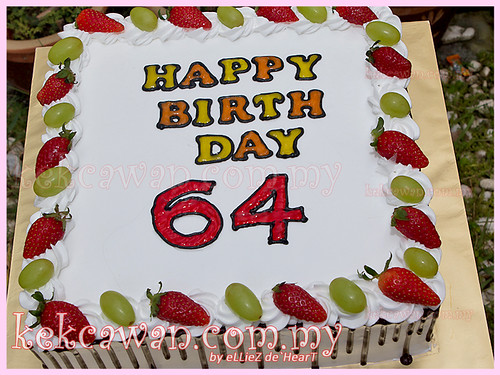 64th Birthday Cake