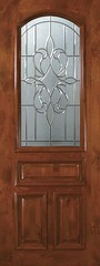 New Orleans Decorative Glass Arch Lite Knotty Alder Entry Door  E19145-C