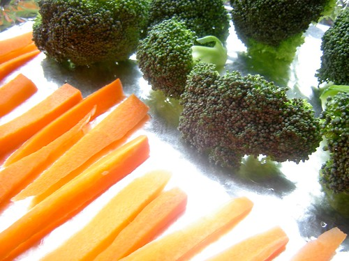 [Peixe-purê-farofa] legumes assados