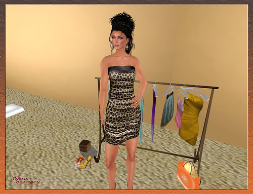 :: PM :: Cheetah Tube Dress [MESH] - group gift
