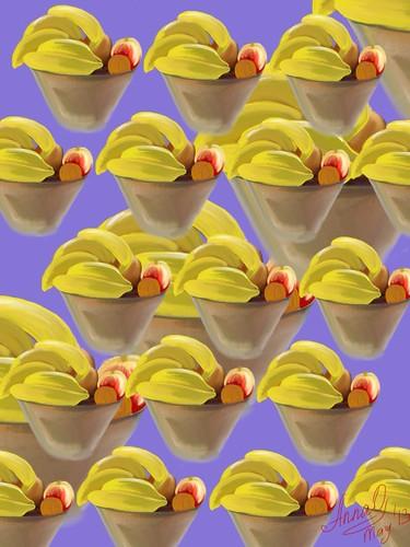 """Let's go banana"" iPad Art by Anna Orlyanskaya"