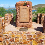 Roosevelt Lake - Al Sieber Memorial - a legendary figure in Arizona History