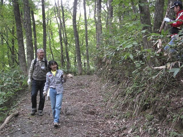 キャンプ場には,ササ林床のコナラ林,草原,湿地などがある.