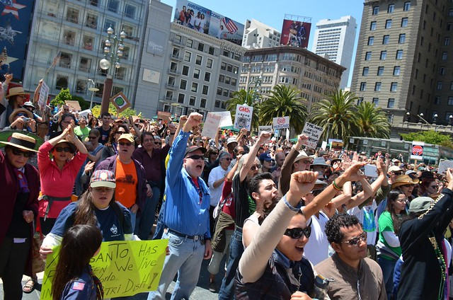 March against Monsanto rally in San Francisco's Union Square