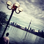 Reflections from the island, Toronto skyline at slant. #skyporn #tbex