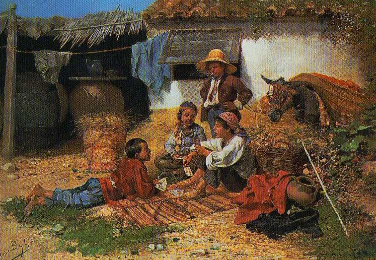 Aquellos maravillosos años de la niñez. José Benlliure y Gil (1855-1937). Óleo sobre lienzo