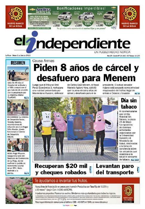 Campaña Día Mundial Sin Tabaco - El Independiente - 1.06.2013