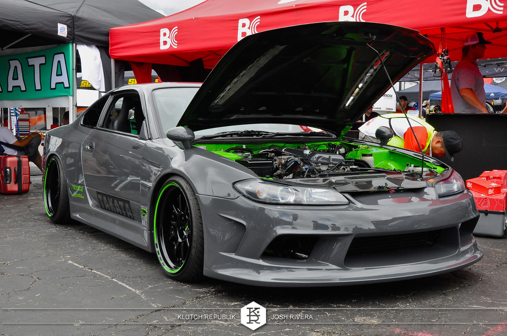 grey nissan 240sx s15 nose jdm drift  slammed society at formula drift palm beach florida 2013 slammed dropped dumped bagged static coilovers hella flush stanced stance fitment low lowered lowest camber wheels tucked 16s 17s 18s 19s 20s 3piece 1 piece custom airbags scene scenester