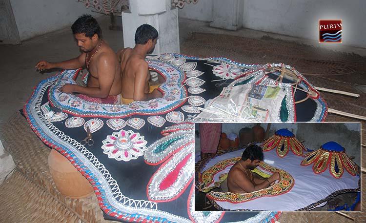 Mask for Lord Jagannath Gajanana Besha Devasnnana Purnima