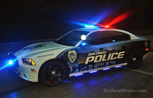 Police car wrap - Orlando, Florida